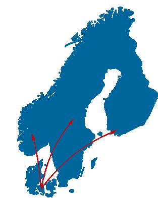 Kurer-/hastetransport til skandinavien (Norge, Sverige & Findland)